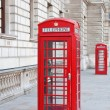 Red telephone booth in London - Zdjęcie stockowe
