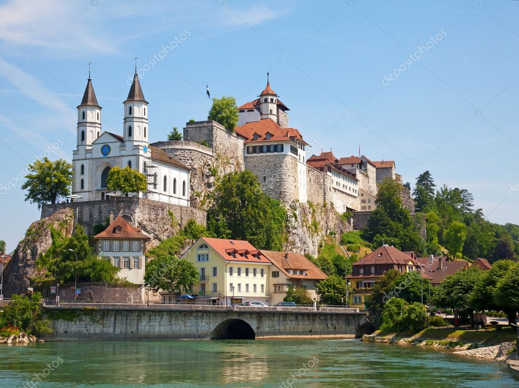 Aarburg castle near Zurich, Switzerland — Stock Photo #3774260