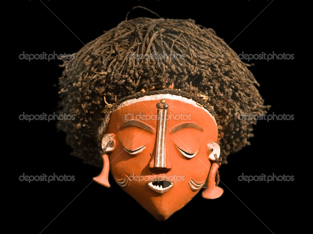 African female mask (Central Africa) — Stock Photo #3784435
