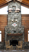 Arkansas Fireplace — 图库照片