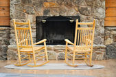 Chairs by the Hearth — Stock Photo