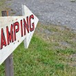 Stock Photo: Camping Sign