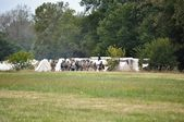 Civil War Re-enactment - Rebel Camp — Stock Photo