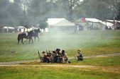 Civil War Re-enactment - Battle — Stock Photo