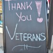 Stock Photo: Thank You Veterans Sign