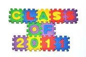 Class of 2011 - letter blocks — Stock Photo