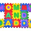Connected Letters - MOMMY and DADDY in center — Stock Photo #4718066