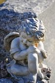 Gravesite - Angel on tombstone close up — Foto Stock