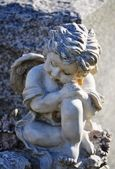 Gravesite - Angel on tombstone — Foto Stock