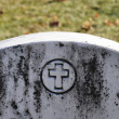 Stock Photo: Cemetery Headstone with cross