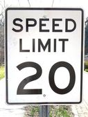 Speed Limit 20 — Stock Photo