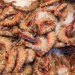 Fresh shrimps closeup in resaurant — Stock Photo
