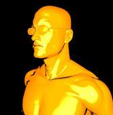 Yellow man — Stock Photo