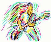 Guitar hero — Stok fotoğraf