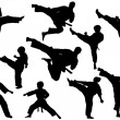 MARTIAL ARTS - KARATE SET - Stockvectorbeeld