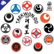 Royalty-Free Stock Vector Image: Martial Arts. Big set Symbols.