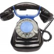 Vintage phone with disc dials - Stock Photo
