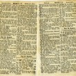 Old antique vintage open bible isolated — Stock Photo