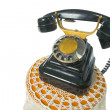 Old vintage black phone with disc dials. — Stock Photo #3045937