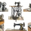 Old sewing machine , sewing-machine — Stock Photo