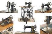 Old sewing machine , sewing-machine — Stock Photo