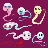 Visages de sperme — Vecteur