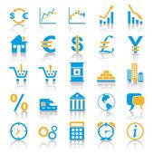 Exchange marktplaats pictogrammen — Stockvector