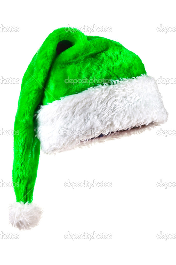 Green magic santa hat — stock photo fotofermer