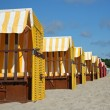 Foto Stock: Beach chairs