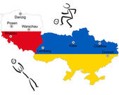 European Football Championship 2012 Poland/Ukraine — Stock Vector