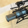 Studio musical microphone — Stockfoto