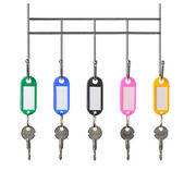 Keys with color trinkets — Stock Photo
