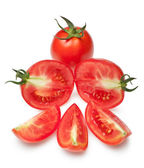 The cut tomatoes — Stock Photo