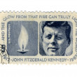 Stamp with the image of the president of USA John F Kennedy — Stock Photo