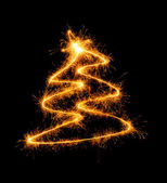 New Year tree with a star — Stock Photo