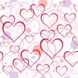 Vector de stock : Hearts background. Seamless.
