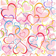 Hearts background. Seamless. — Stock Vector