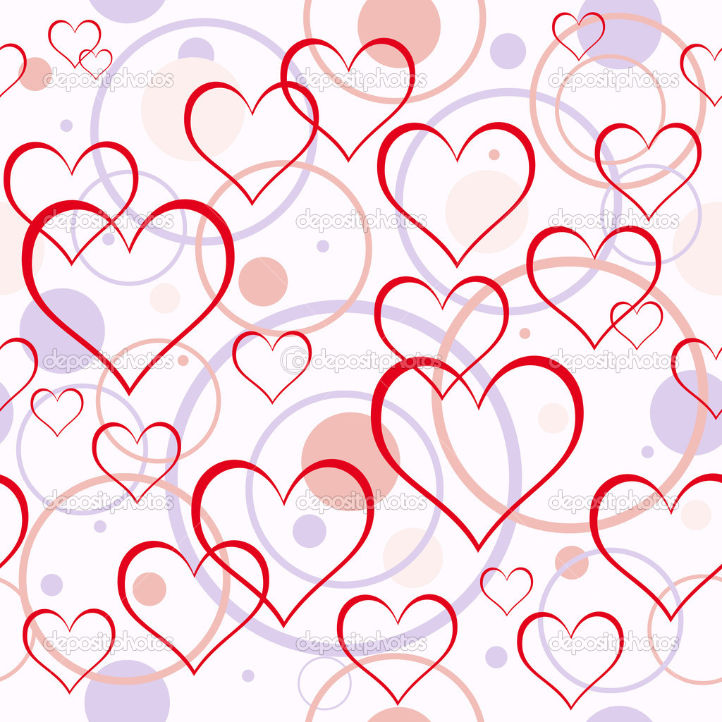 Hearts background. Seamless. — Stock Vector #3432793