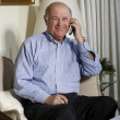 Senior on the phone — Stock Photo