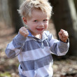 Stock Photo: Strong, a little boy