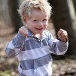 Strong, a little boy — Stock Photo