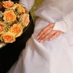 fiori bouquet da sposa — Foto Stock