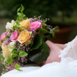 Bridal bouquet flowers — Stock Photo