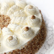 Cream cake with almond edge — Stock fotografie