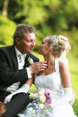 Couple - bride and bridegroom — Stock Photo