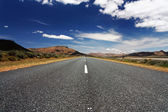 Long, lonely road — Stock Photo