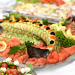 Fish platter with salmon — Stock Photo