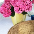 Stock Photo: Lilac hydrangein vase