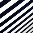Foto Stock: Blue-white- striped awning - close-up