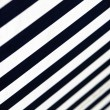 Blue-white- striped awning - close-up — Foto Stock